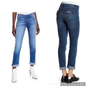 Hudson Crop Straight Cuffed Bacara Jeans